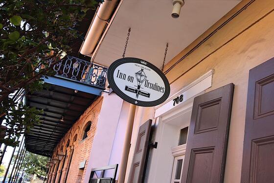 Inn on Ursulines Exterior Signage