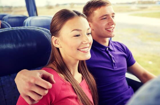 couple on shuttle