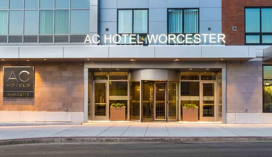 exterior of ac hotel worcester