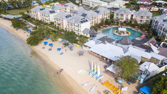 beach resort aerial view