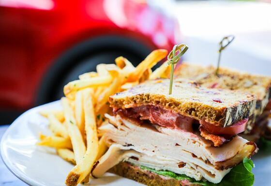 Oven Roasted Turkey BLT and Fries