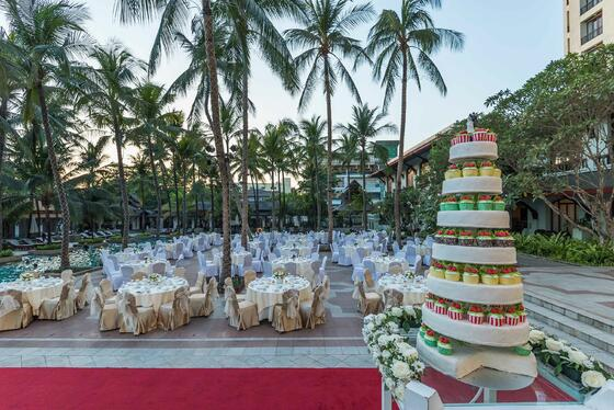 Chatrium Hotel Royal Lake Yangon Wedding set up
