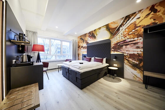 Bedroom at Smarty Hotels in Cologne and Leichlingen