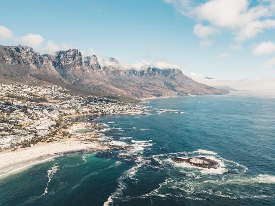 aerial view of Cape Town beaches