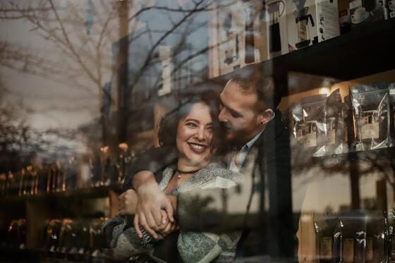 couple in the city