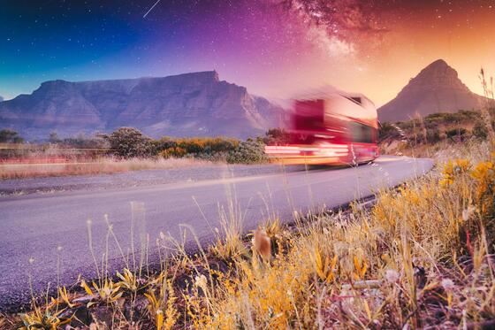 red bus to tour cape town