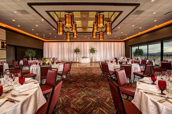 tables in a ballroom
