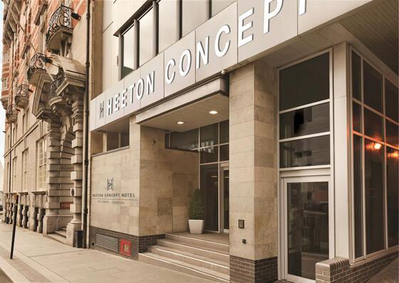 Heeton Concept Hotel – City Centre Liverpool entrance