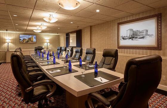 conference table with executive chairs