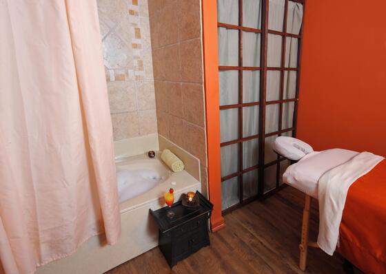 Massage Room with Soak Tub