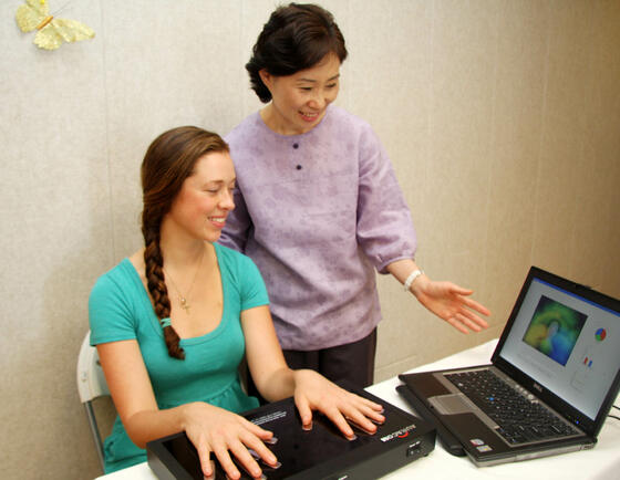 Two woman on laptop