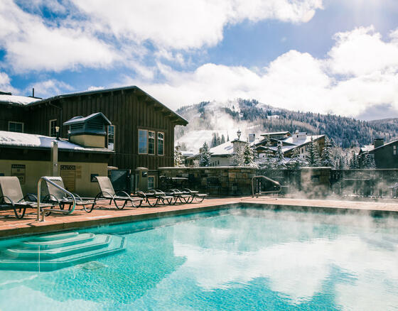 The Chateaux Deer Valley Winter Pool