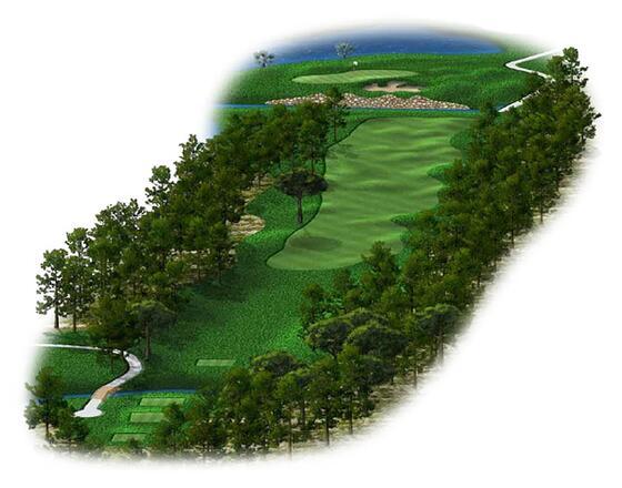 Titanic Golf Club the forest