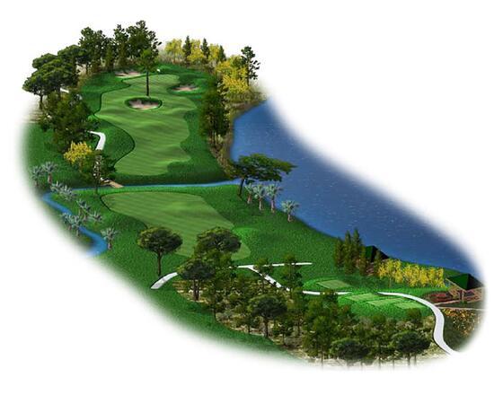 Titanic Golf Club map the river