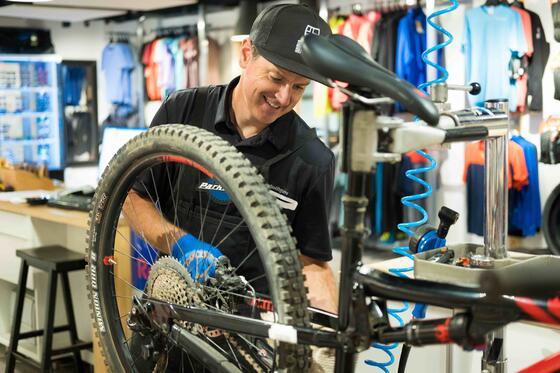 Stein Eriksen Sport Shop summer mountain biking rentals