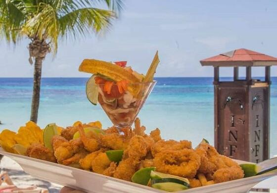 plate of fried shrimp on table