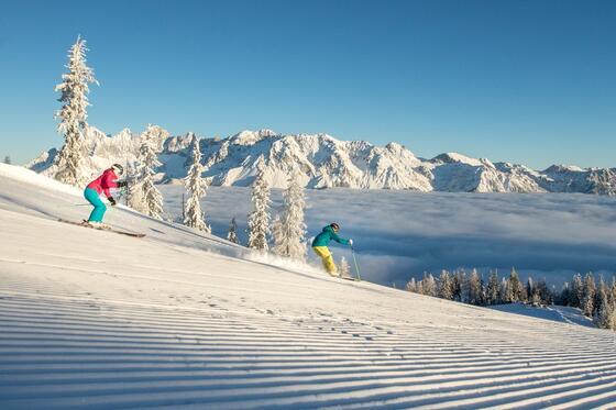 Skiing on the Hochwurzen