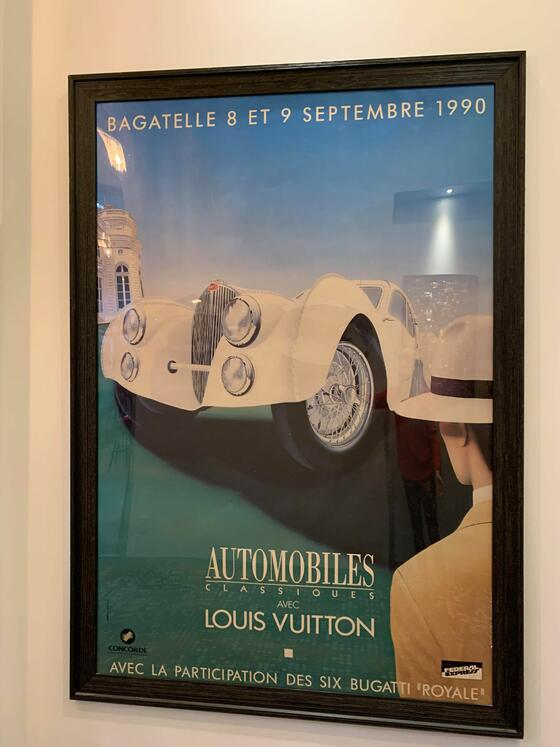 retro suites Louis Vuitton Original Bagettelle lithograph