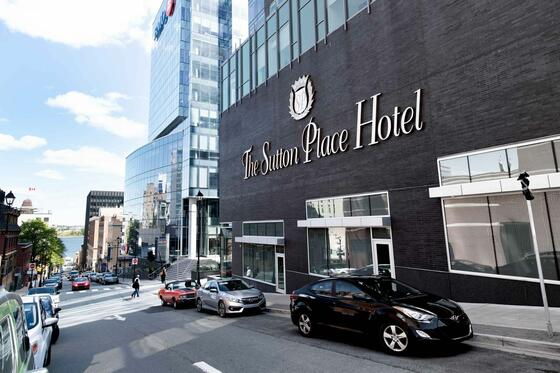 Outside Full Entrance with Logo (Prince St) The Sutton Place Hot