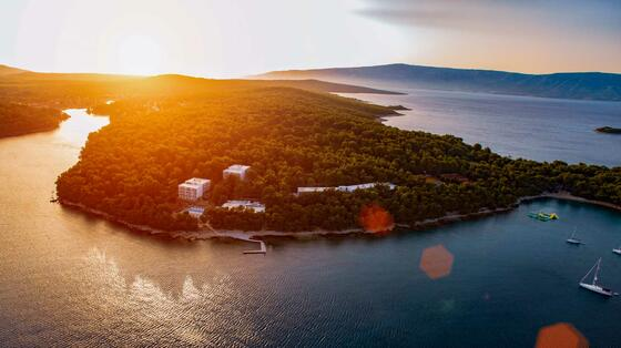 Aerial View Of Resort In Croatia