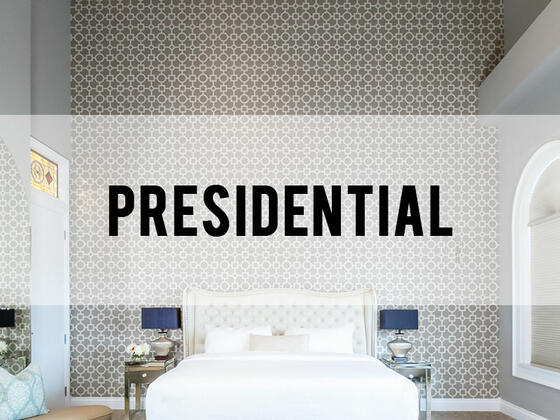 retro suites hotel presidential room category header