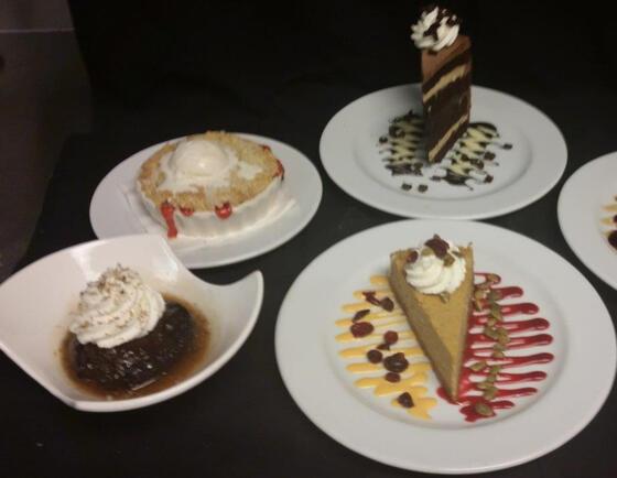 A variety of desserts served at Alderbrook Resort & Spa