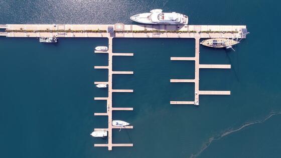 Aerial view of the Wet Slip near Marina Bahia Golfito Hotel