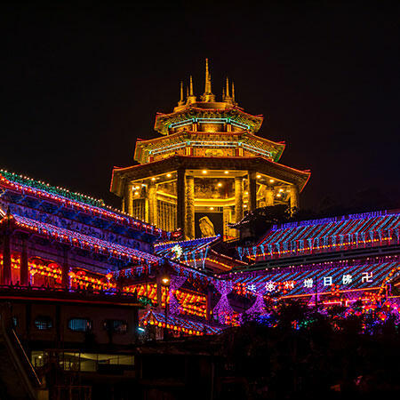 Wonder shot of chinese culture and temple in penang