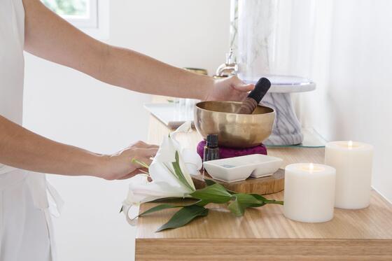 spa treatment tools on table