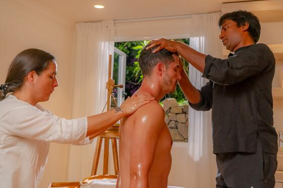 man receiving therapy treatment