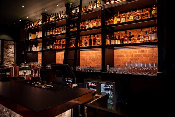 The Bar at the Sandman Signature Aberdeen Hotel with drinks and
