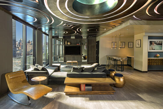 Presidential Living room & bed room at Dream Down Town NYC.