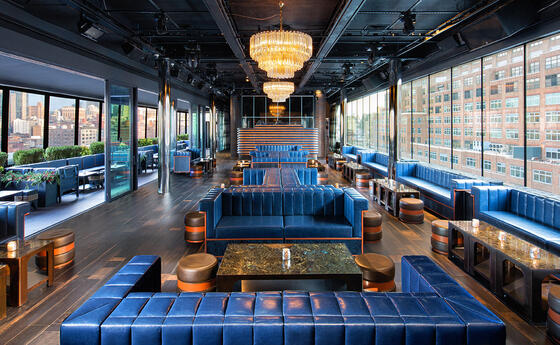 View of the Lobby from the bar area at Dream Downtown New York