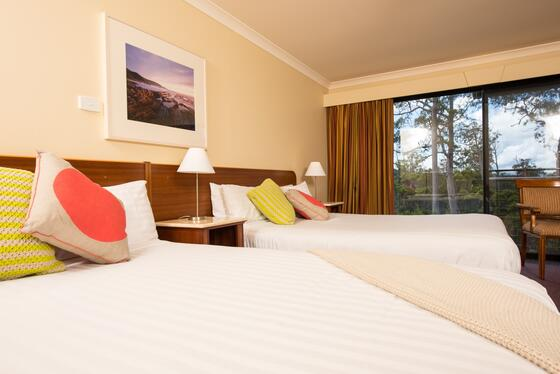 Deluxe Room with Two Queen beds at Cradle Mountain Hotel