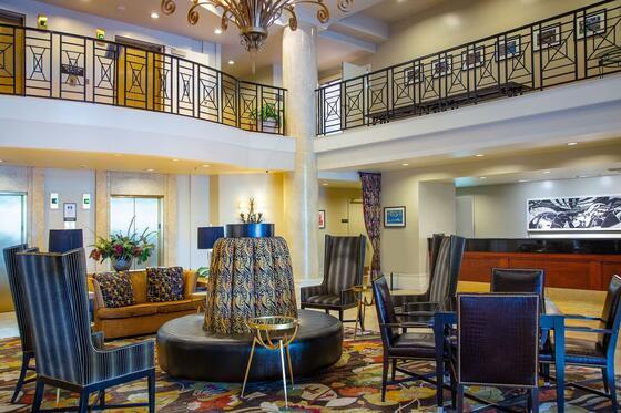 Lobby area at The Paramount Hotel Portland