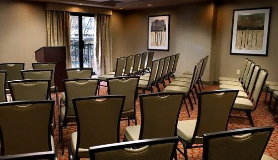 Arranged meeting room at The Paramount Hotel Portland