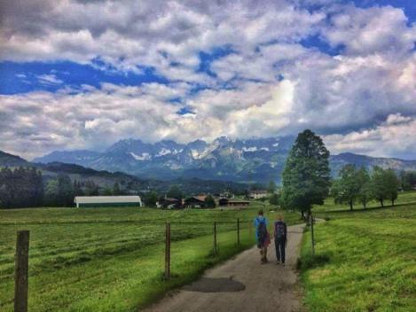 Hiking near Tiefenbrunner Hotel in Kitzbühel, Austria