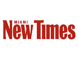 Miami New Times logo at Clevelander South Beach hotel
