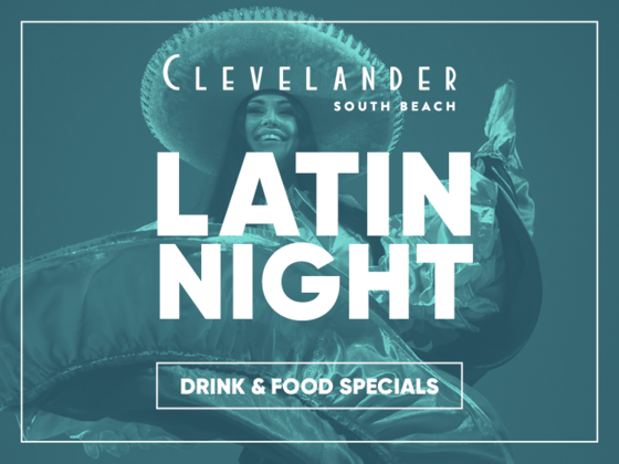 Latin Night poster at Clevelander South Beach