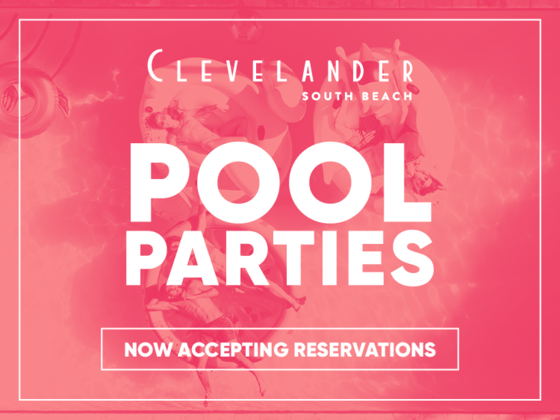 Pool Parties poster at Clevelander South Beach