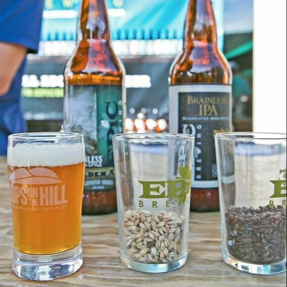 beer and seeds in glasses