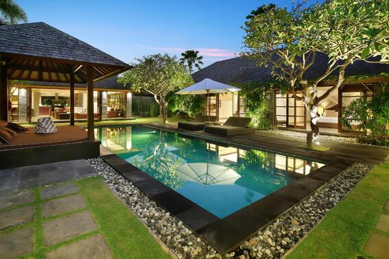 View of Three Bedroom Presidential Pool Villa Peppers Seminyak