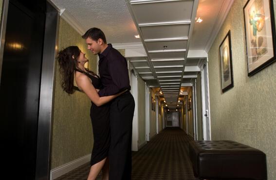 Hall way in Mark Peoria Hotel