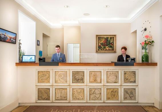 Leonardo Hotel reception, Jan Hotels, Czech Republic