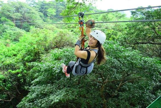 Ziplining at Buena Vista Del Rincon Eco Adventure Hotel And Spa