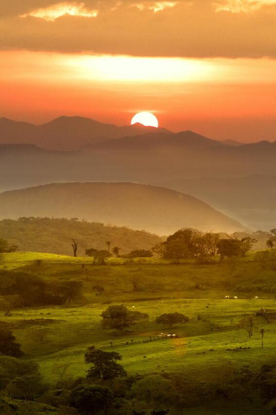 Sunset from Buena Vista Del Rincon Eco Adventure Hotel And Spa
