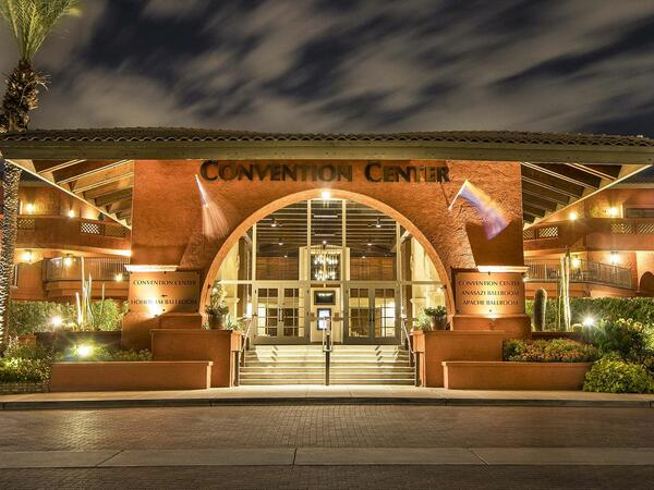 Conv Center Exterior Night