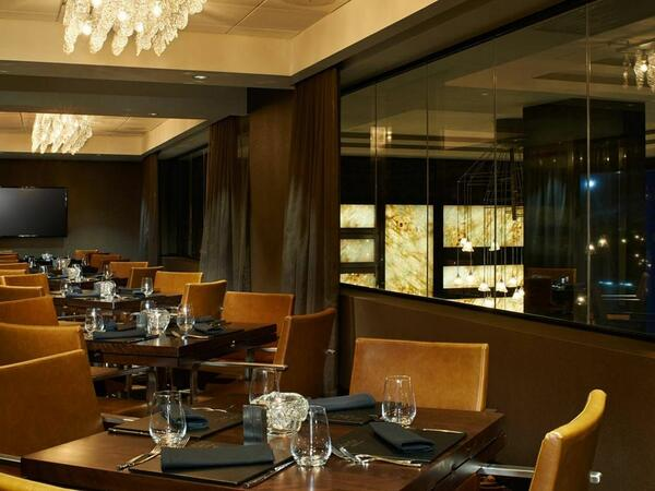 Private dining tables at the Adega restaurant