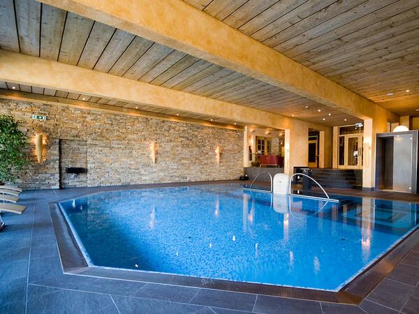 Swimming pool at Tiefenbrunner Hotel in Kitzbühel, Austria