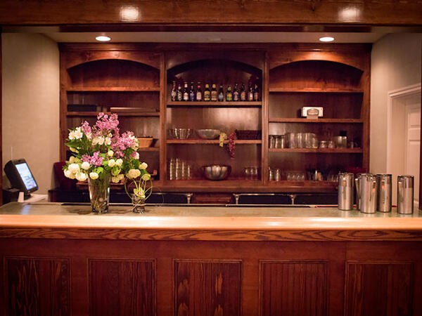 Bar in hotel ballroom